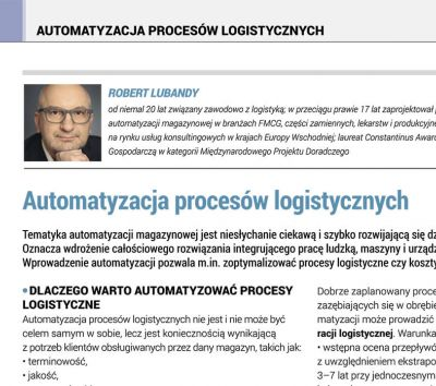 Automation of logistic processes (PL)